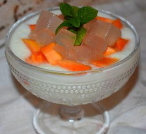 Crema de queso con papaya y aloe vera Método Tándem