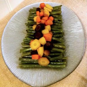 Judías verdes con salsa de soja y zanahorias